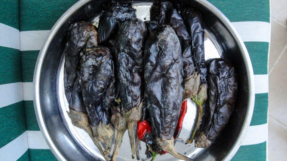 How to freeze roasted eggplants