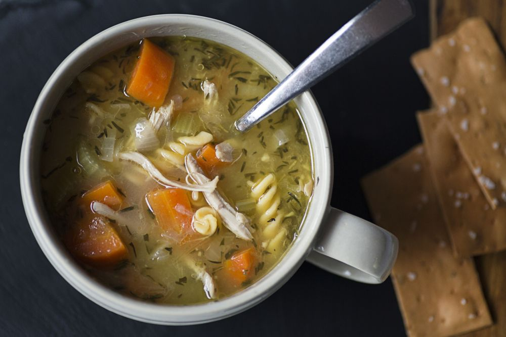 How to freeze chicken noodle soup
