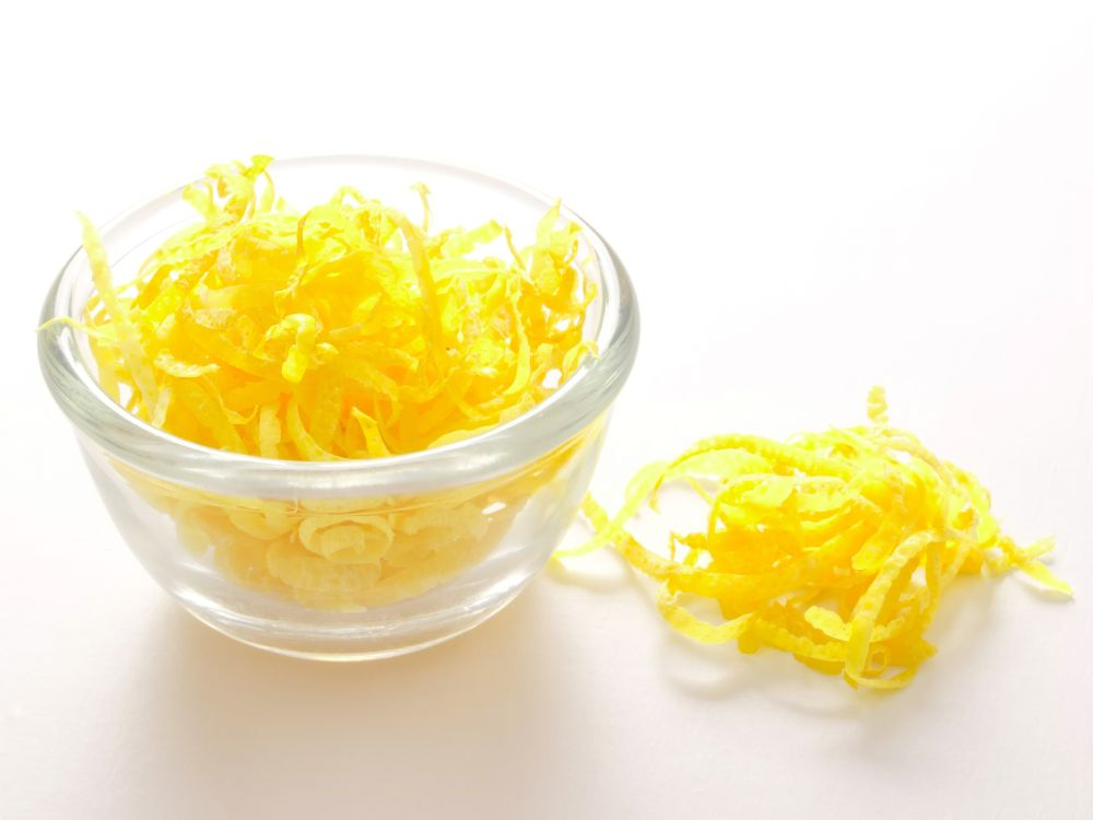 How to thaw lemon zest