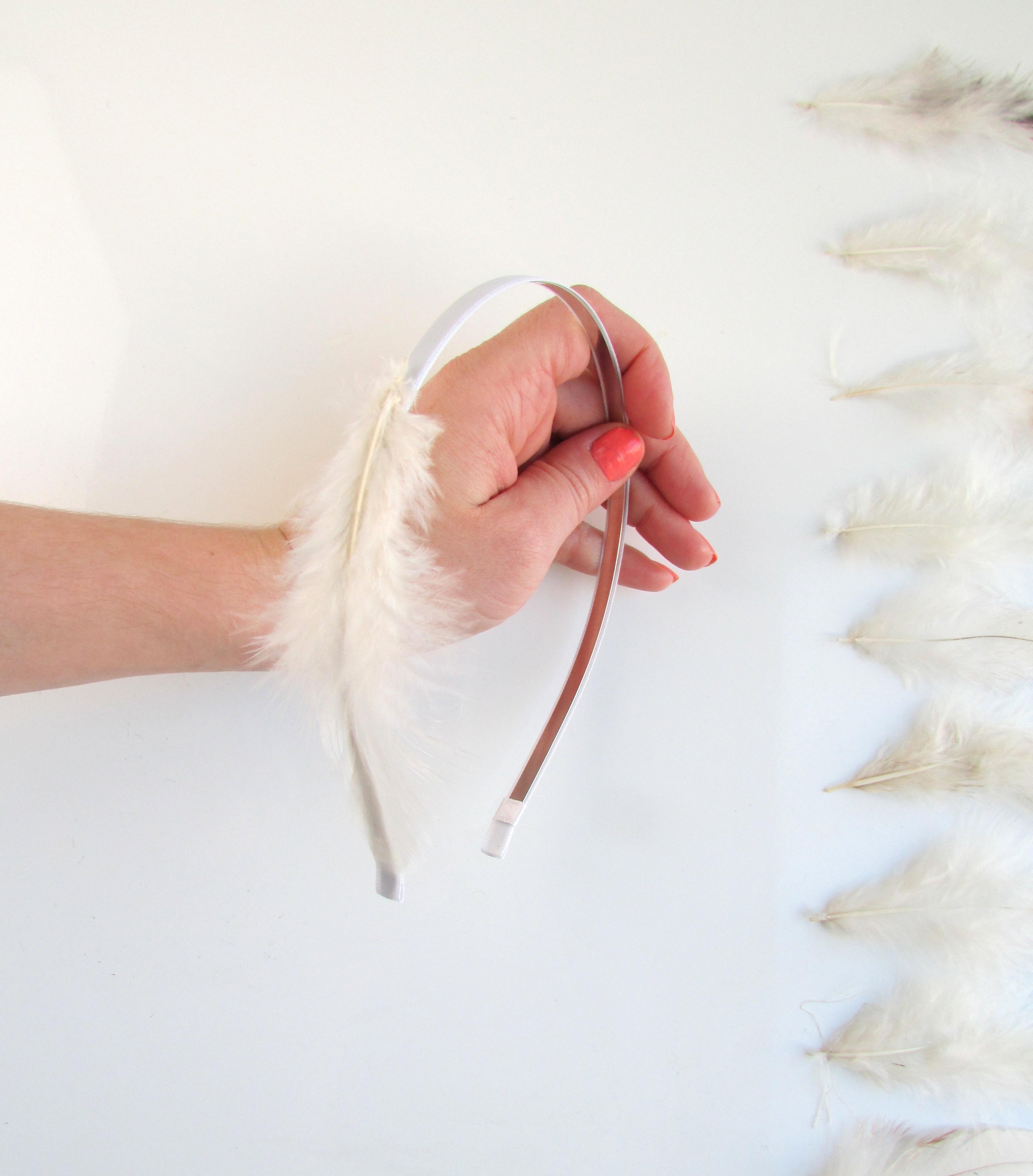 Feather headband assembly