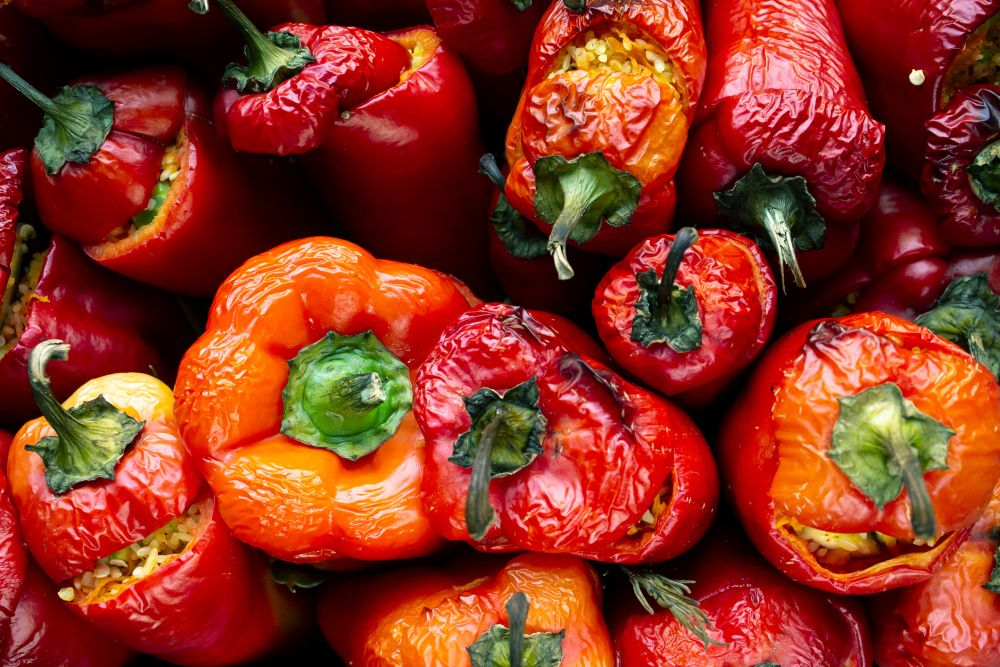 How to freeze roasted red peppers