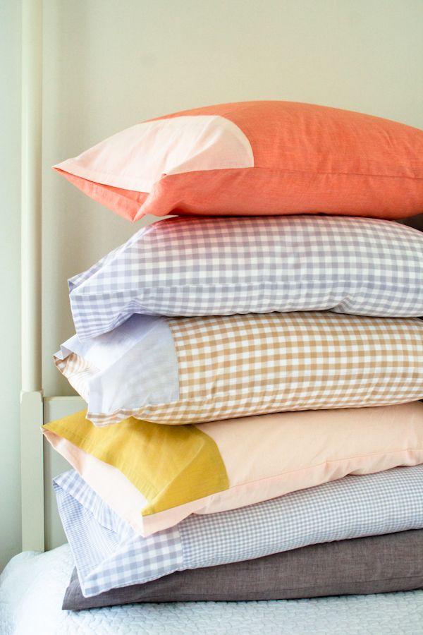 Colored Edges Pillowcase & 10 Fun DIY Pillowcase Projects pillowsntoast.com