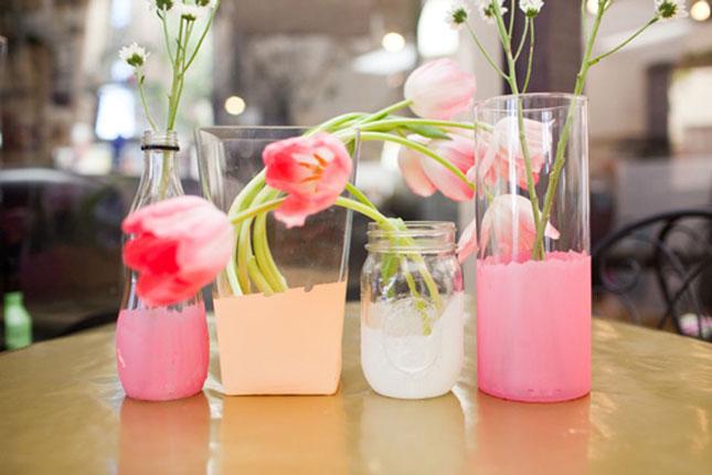 گلدان های رنگارنگ