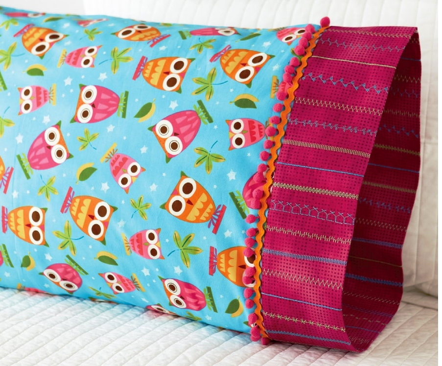 Pillowcase Owl Adorned