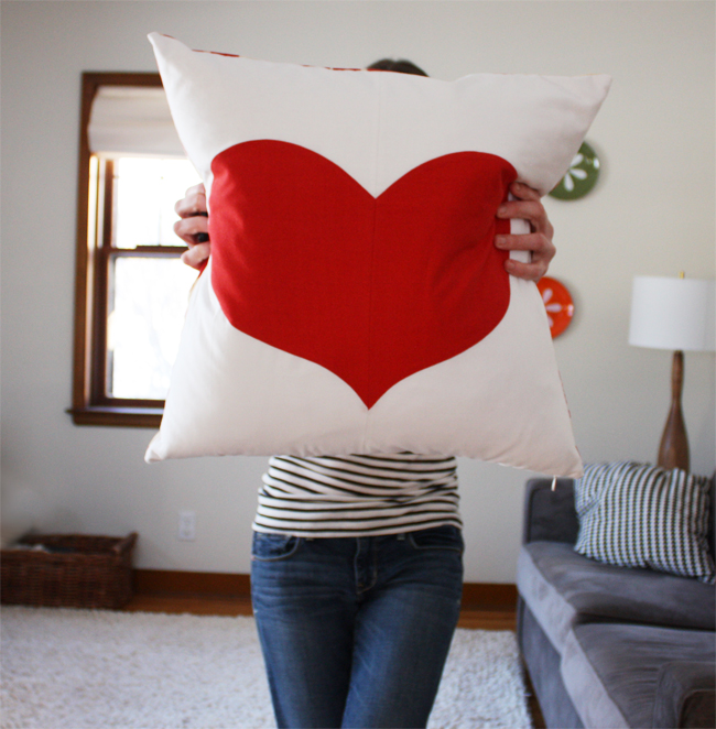Simple Heart Pillowcase