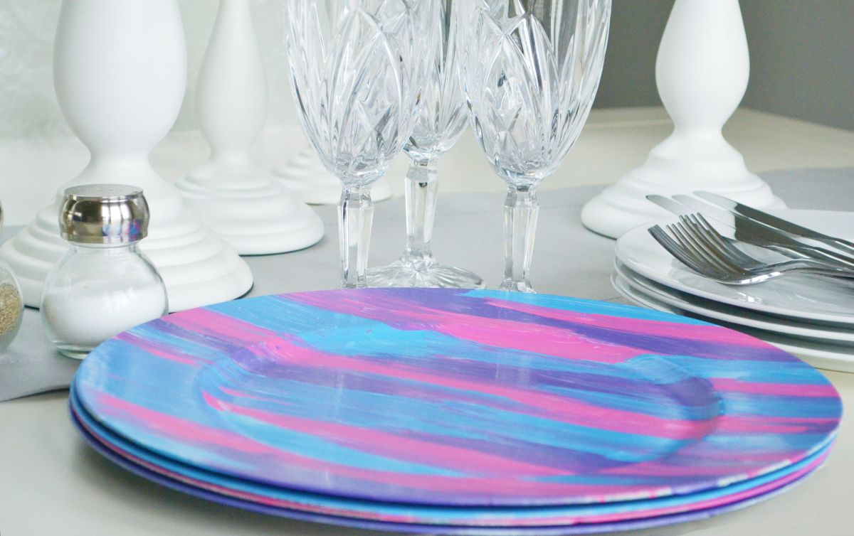 Vibrant painted plates