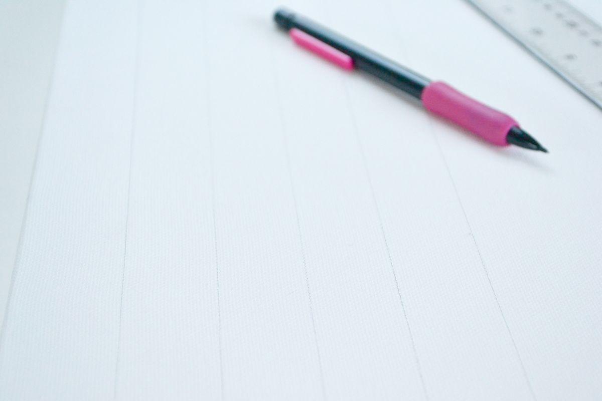 Washi tape canvas ruler