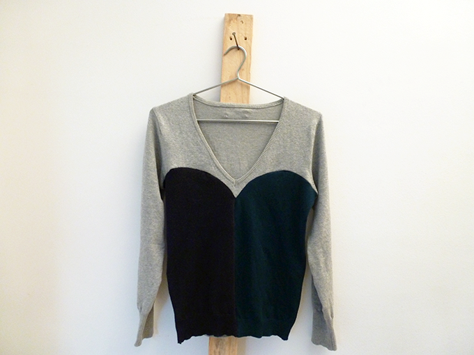 A Colorblocked Sweater from Older Pieces