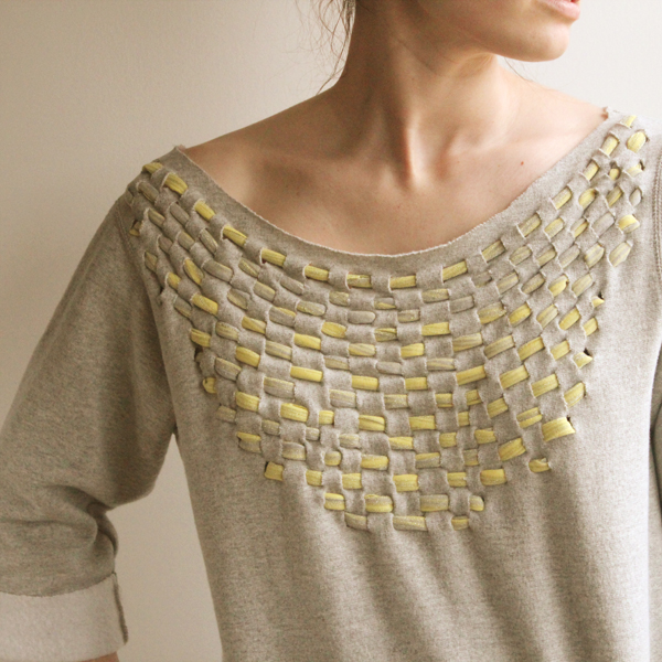 A Weaved Sweatshirt from Old T-shirts
