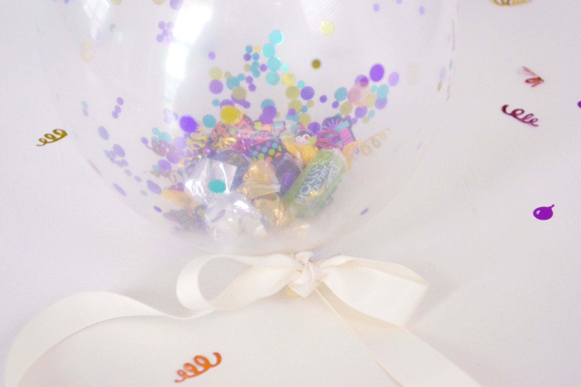 Confetti Balloon Invites Closer Look
