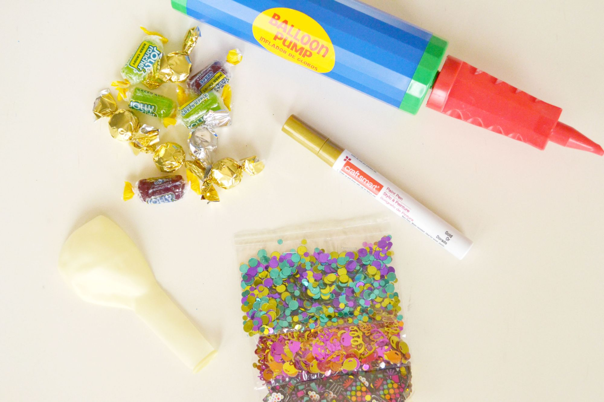 Confetti Balloon Invites Materials