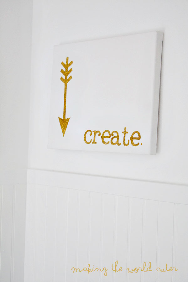Create Inspiration Glitter Arrow