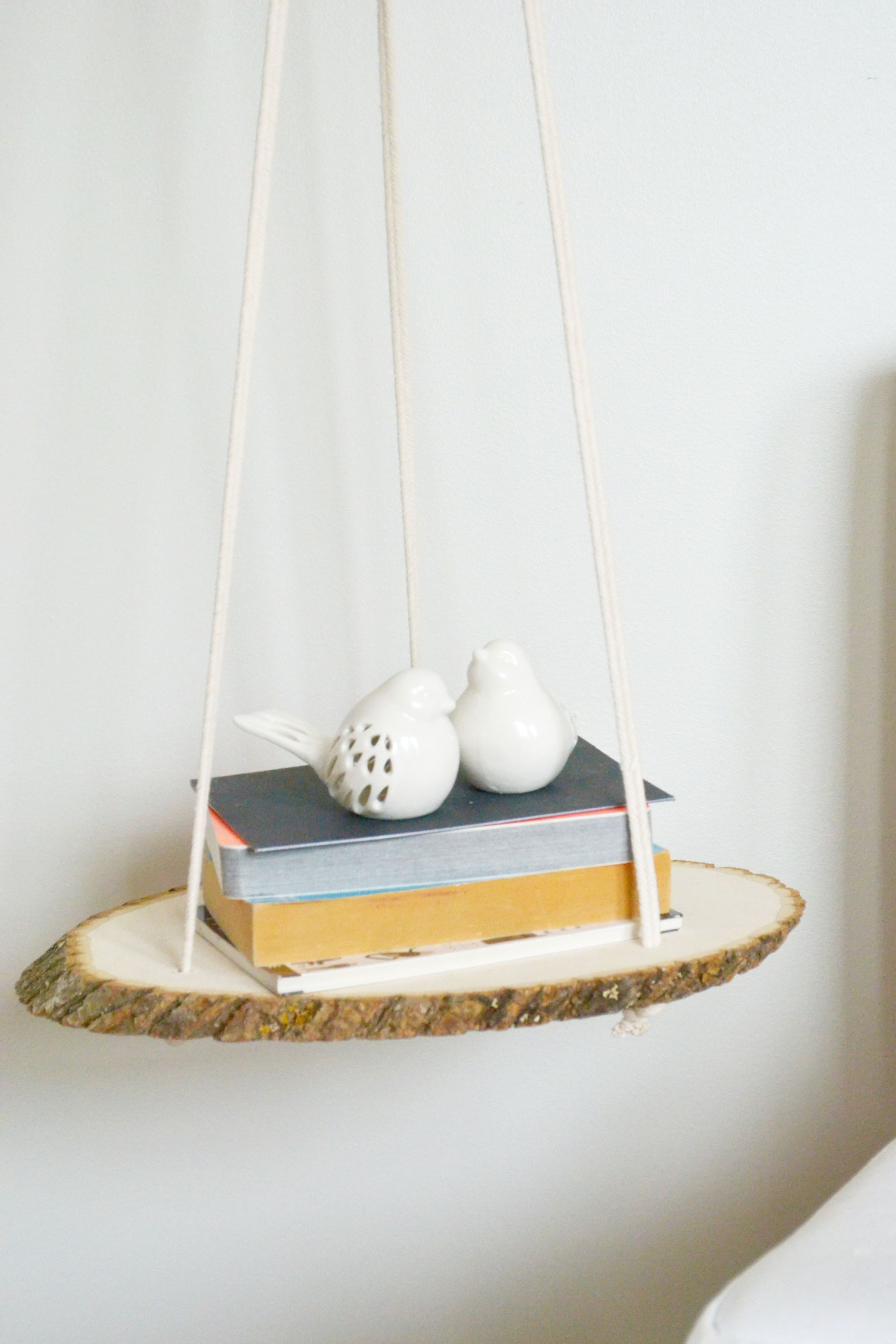 DIY A Hanging Wood Shelf Hang