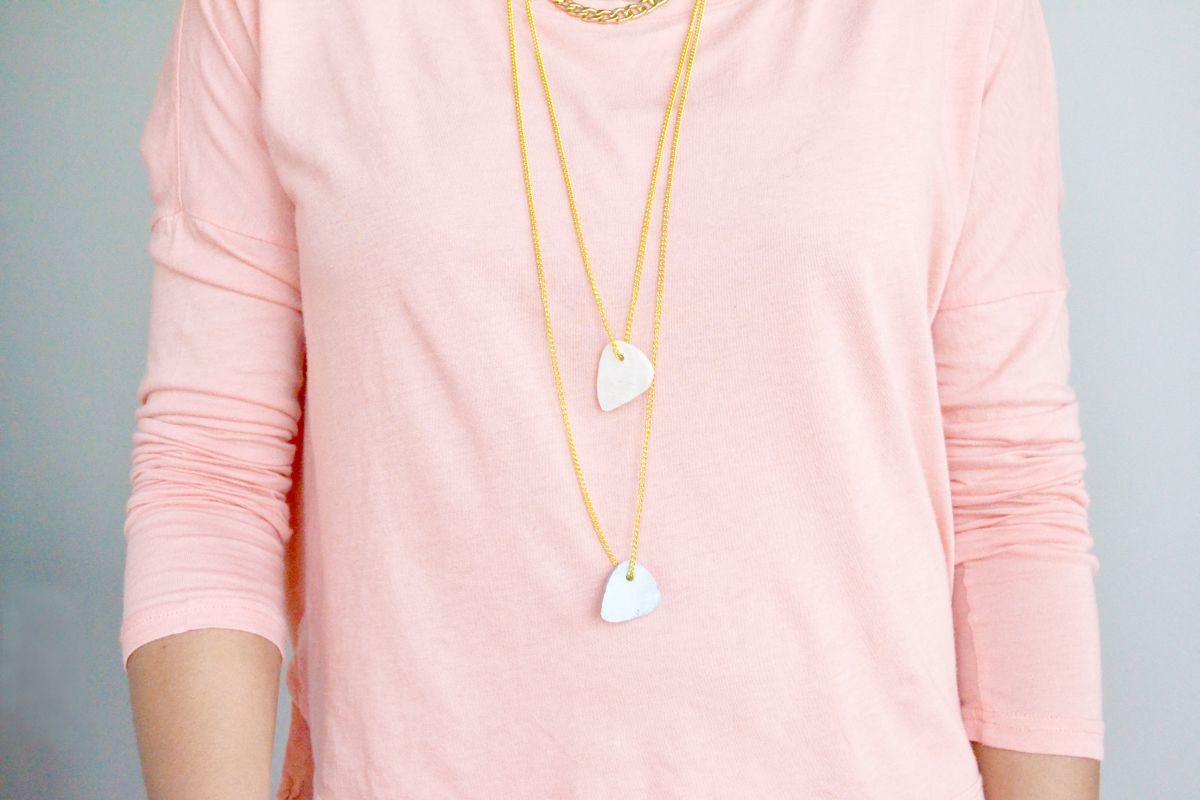 DIY-Clay-Necklace-wearing-necklace