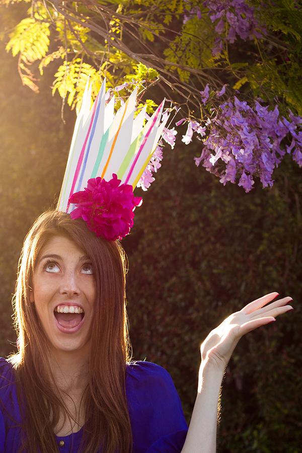 DIY Fresh Flower Party Crowns