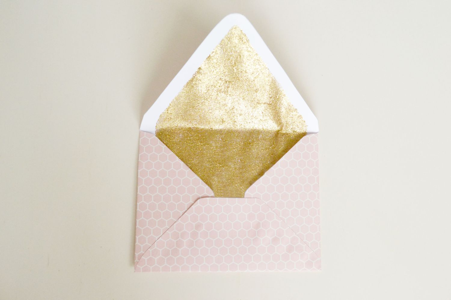 Glitter Lined Envelopes Craft Finished