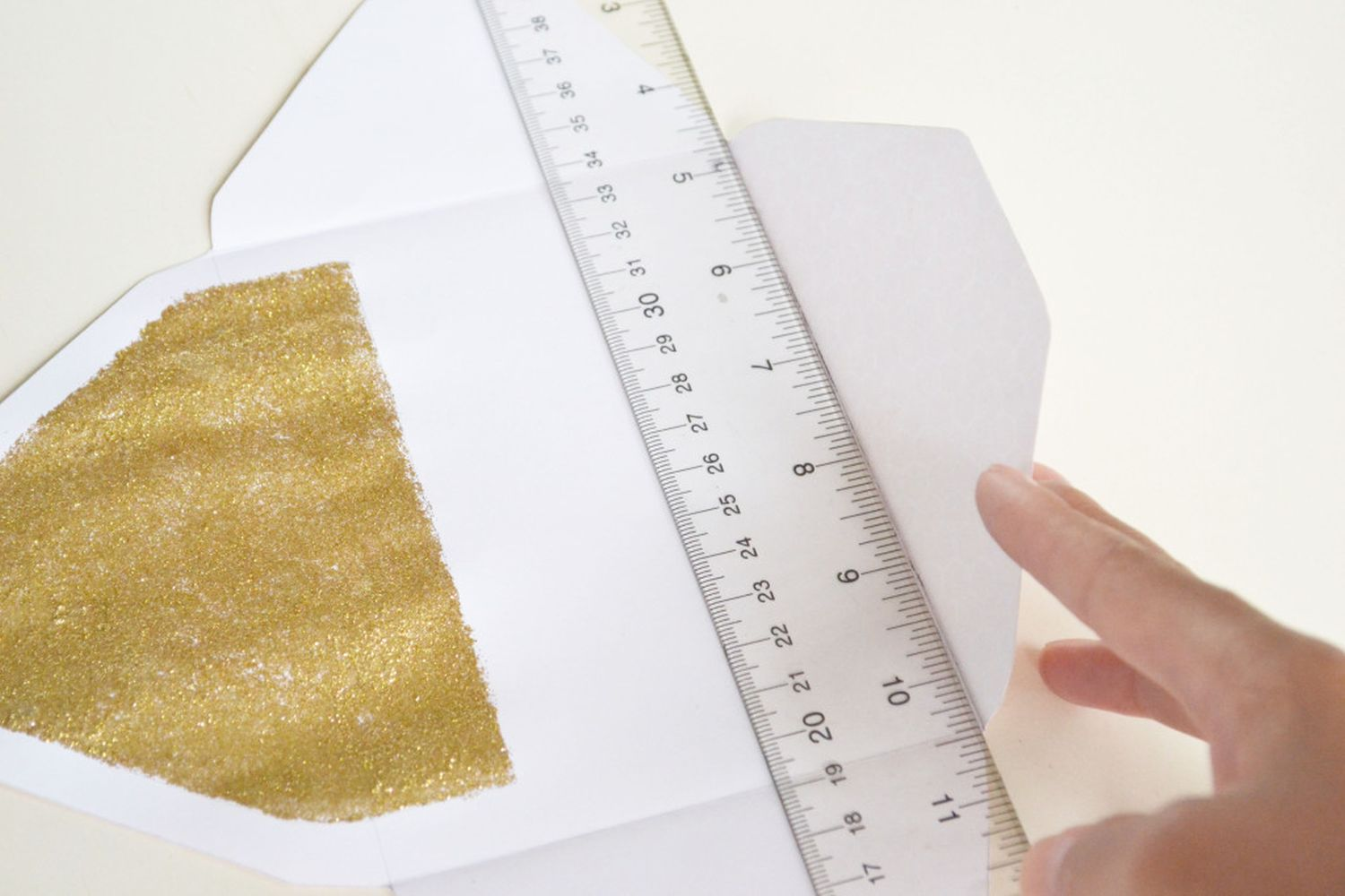 Glitter Lined Envelopes Craft Fold The Side