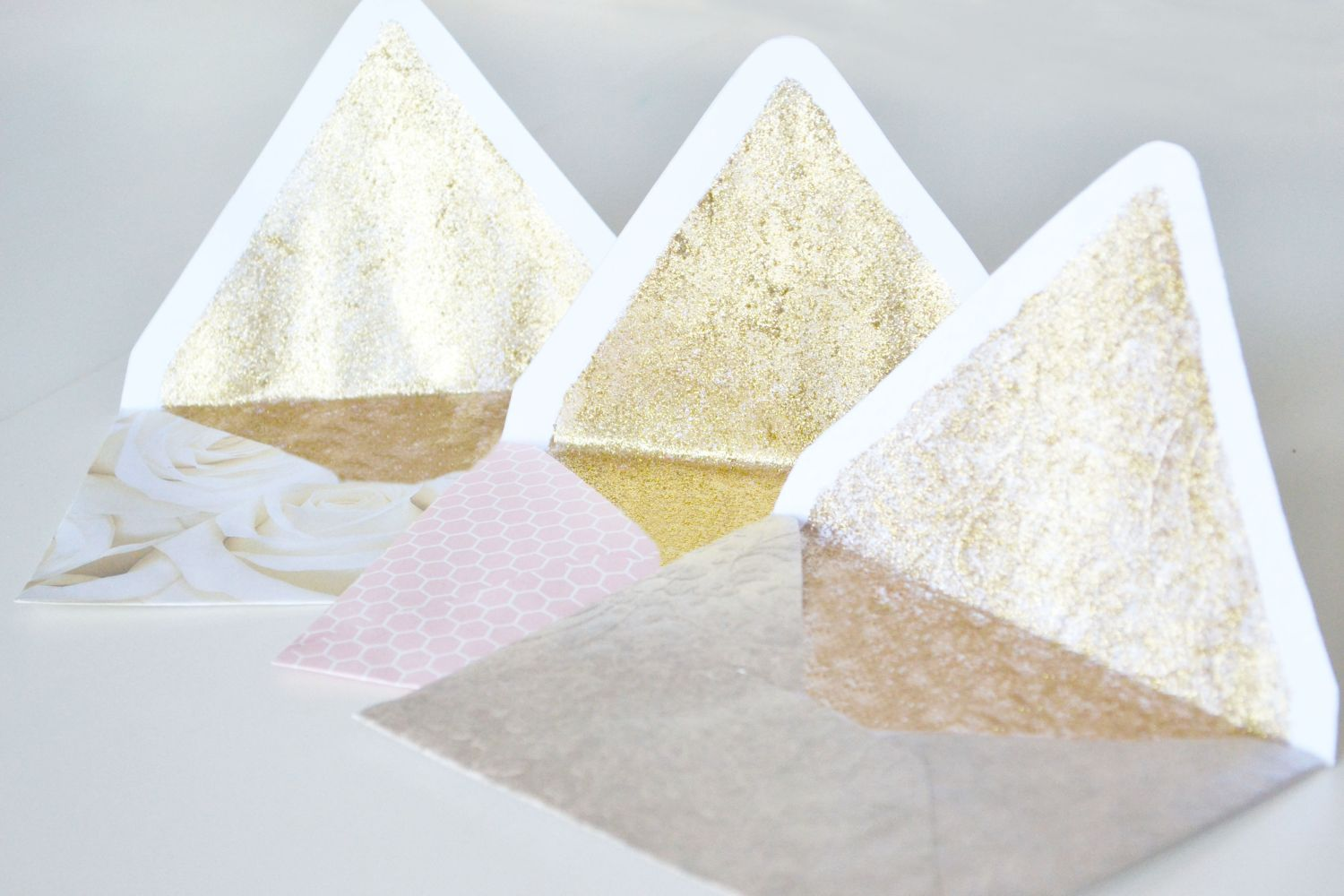 Glitter Lined Envelopes Craft Open