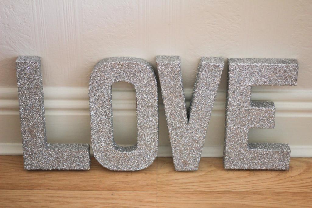 Letters Glitter Art