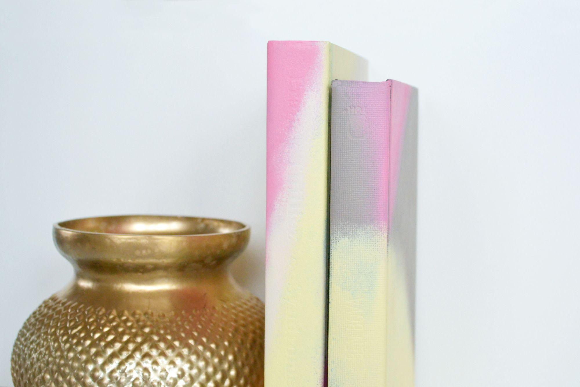 Ombre Painted Journals Arrange Them