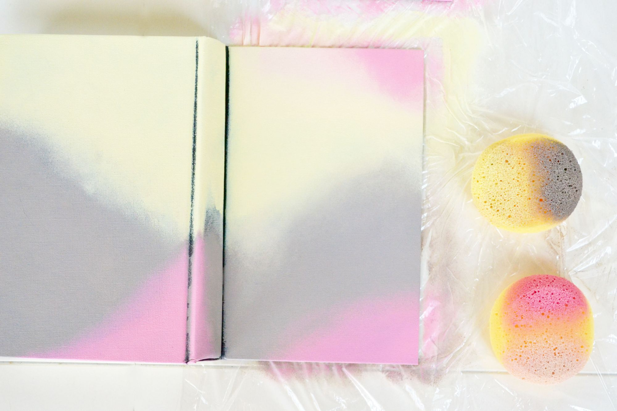 Ombre Painted Journals Display Second Layer