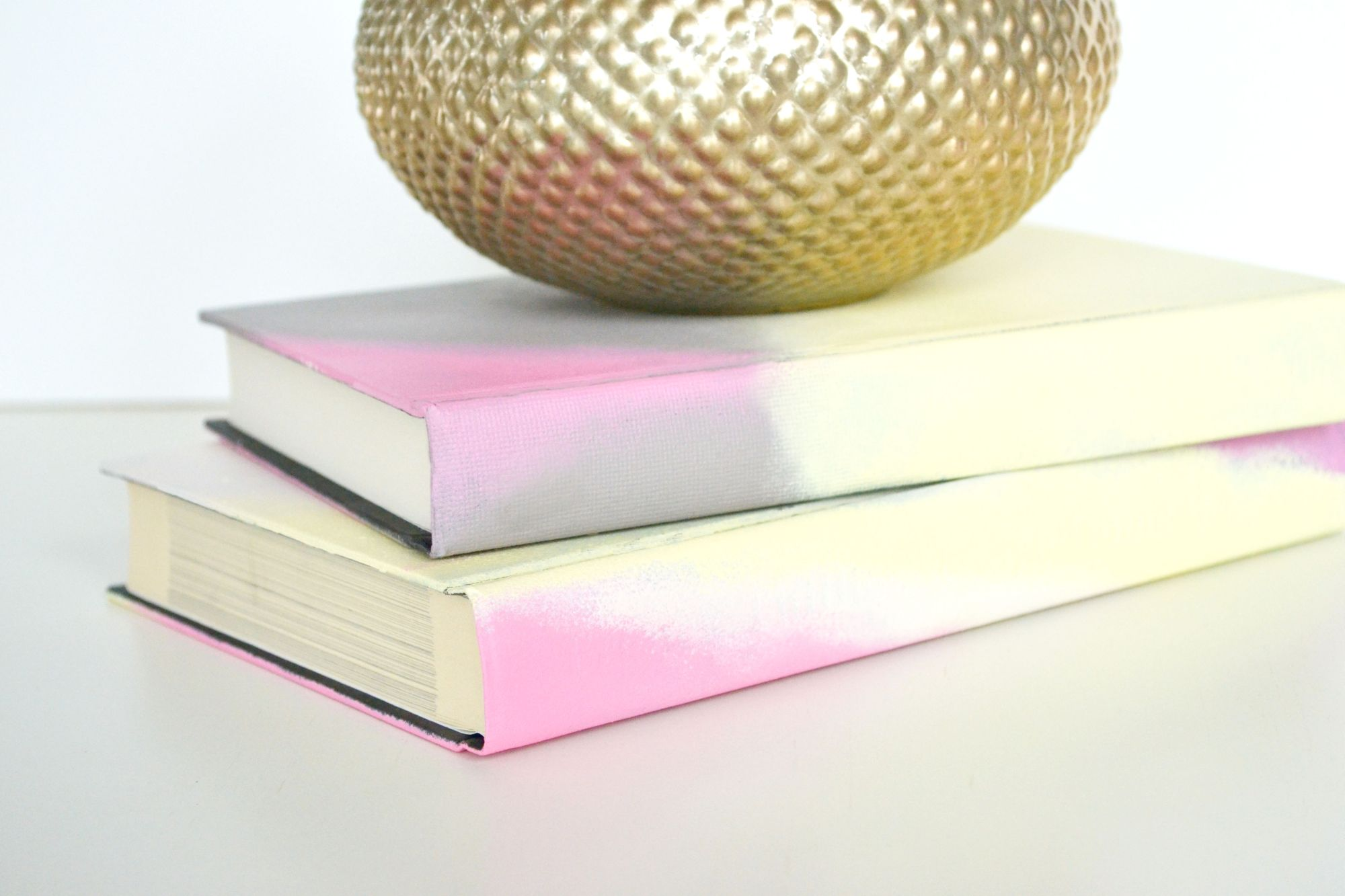 Ombre Painted Journals Display
