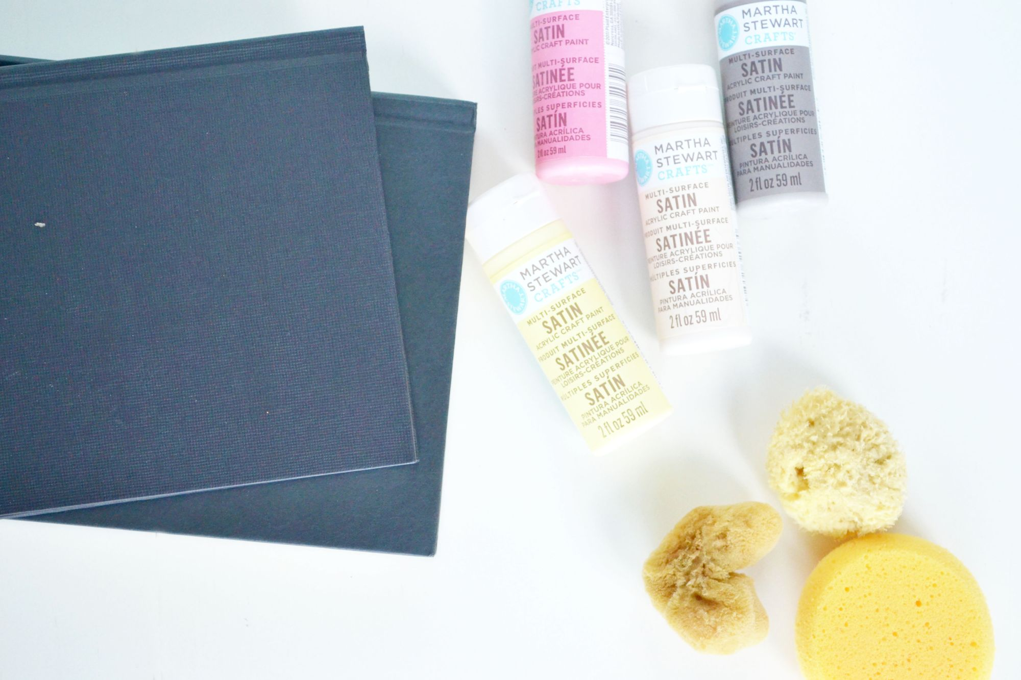 Ombre Painted Journals Materials