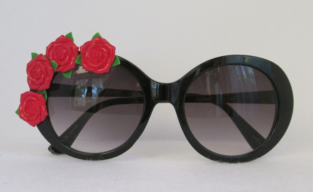Rose-Embellishment-DIY-sunglasses