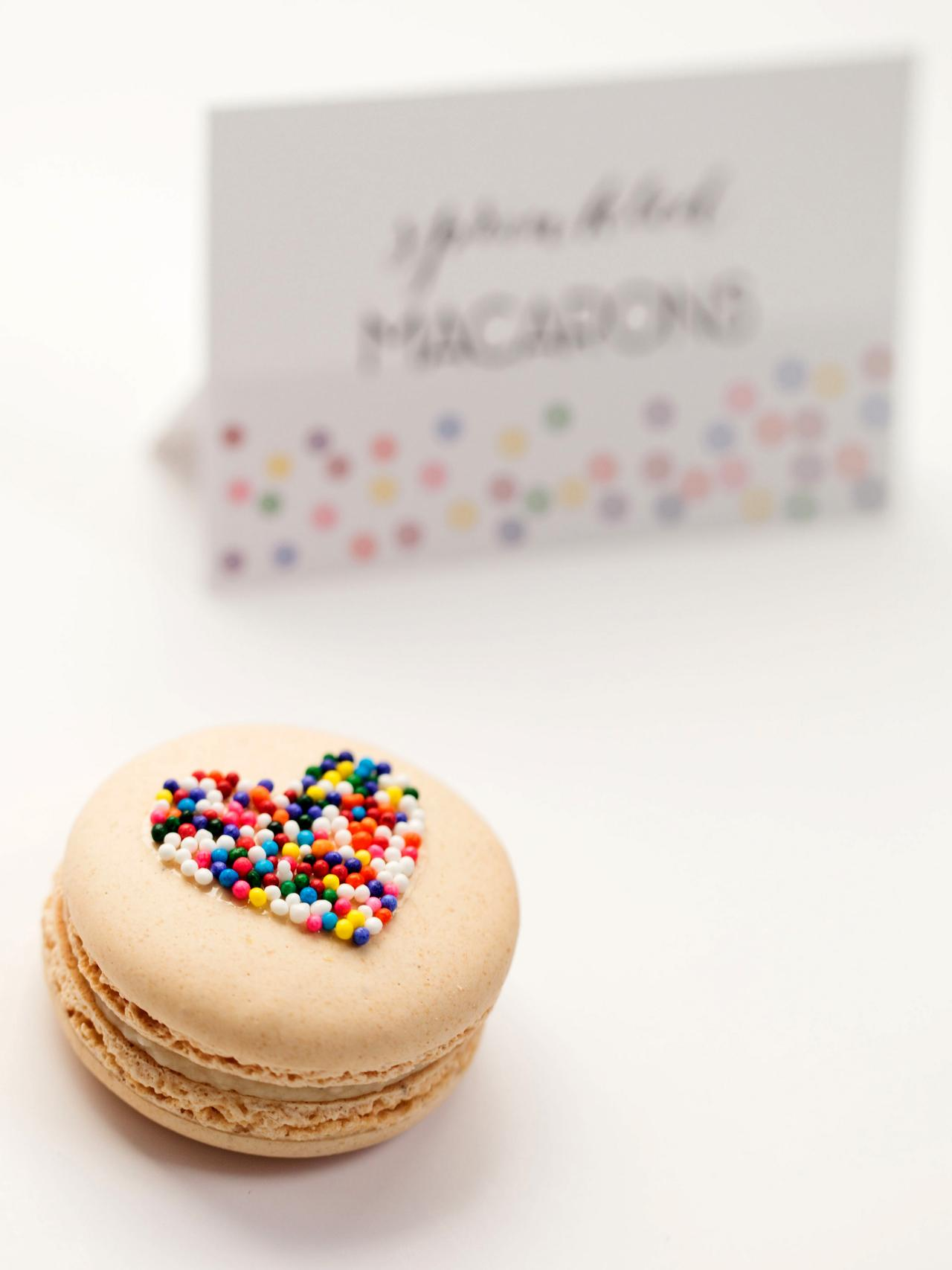 Sprinkled Macaroons