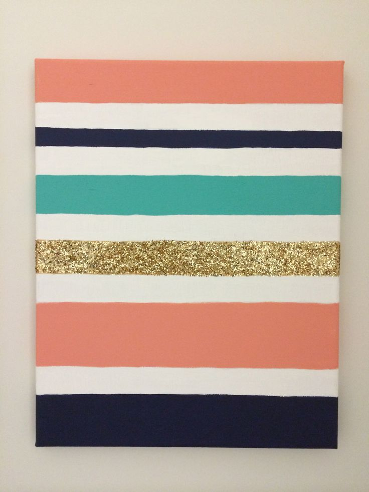 Stripes Glitter Wall Art