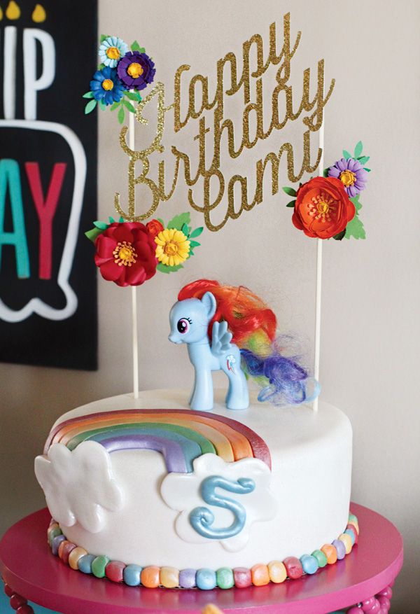 My Little Pony Rainbow Birthday Cake