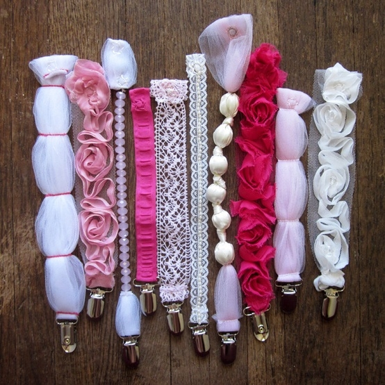 Beautiful Pacifier Clips
