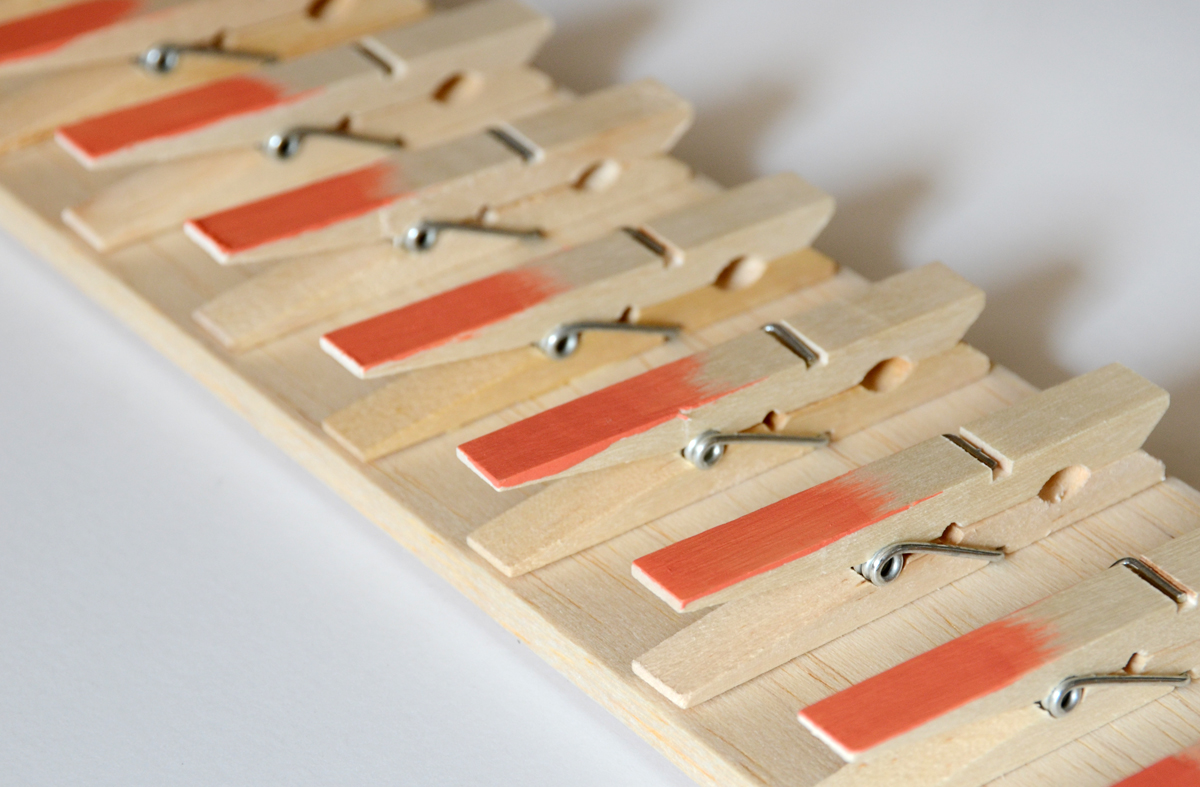 Scarf Hanger Made from Clothespins