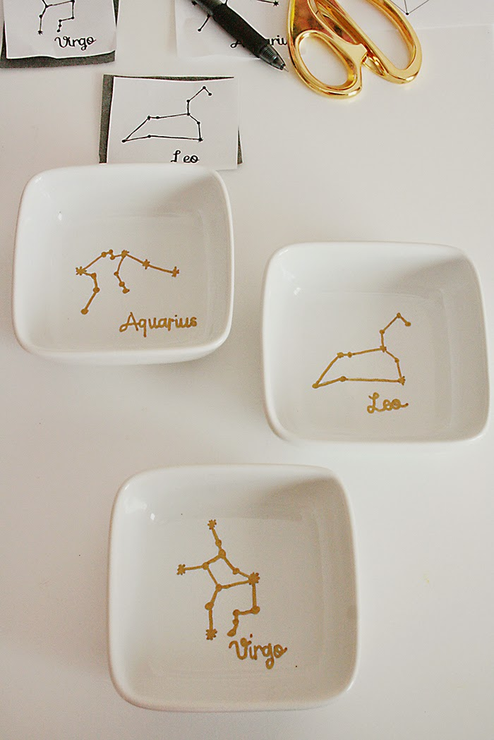 Constellation DIY Sharpie Plate