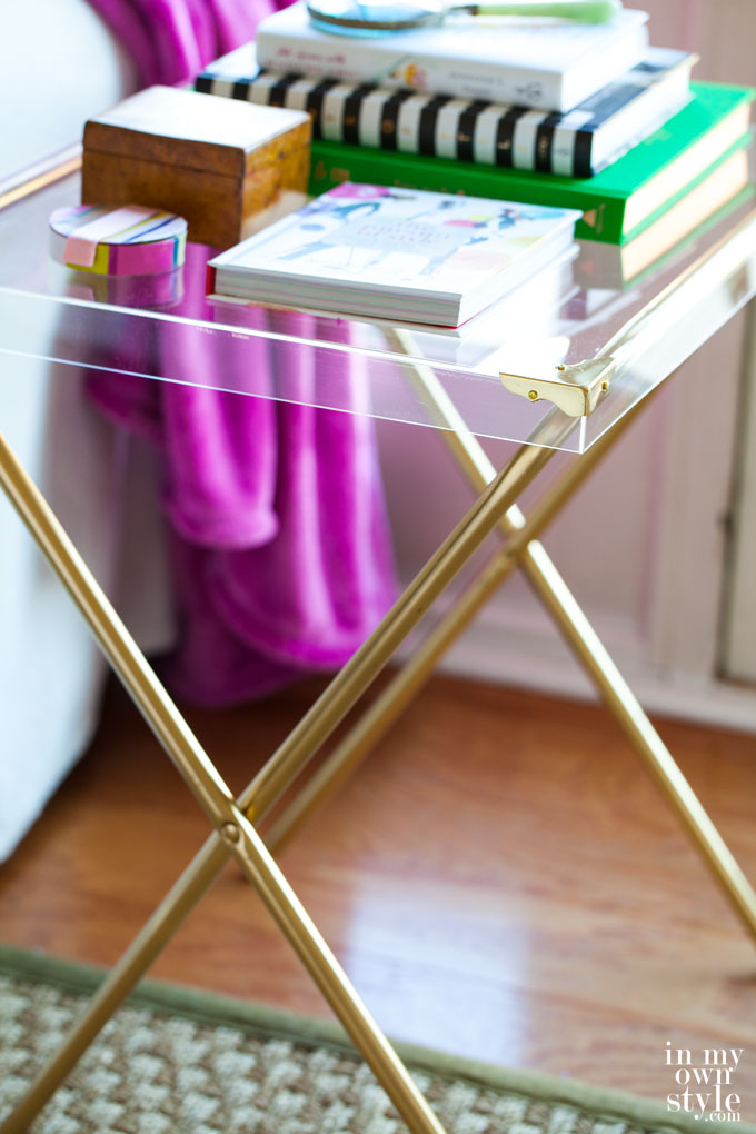 DIY Acrylic Side Table