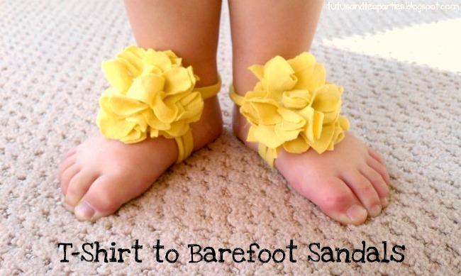 DIY Baby Barefoot Sandals