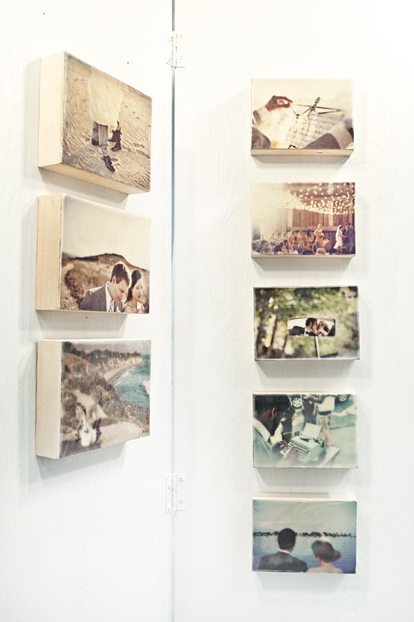DIY Beeswax Panel Photo Collage