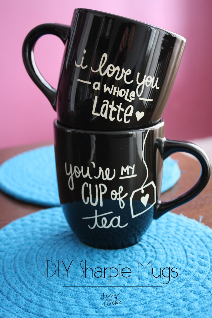 DIY Black Sharpie Mugs