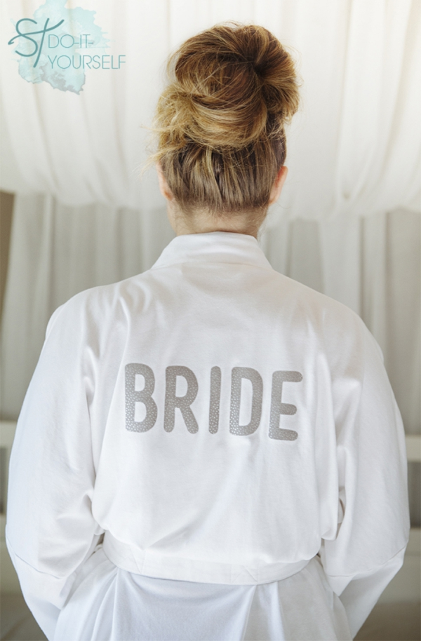DIY Bridal Robe Iron on Transfer