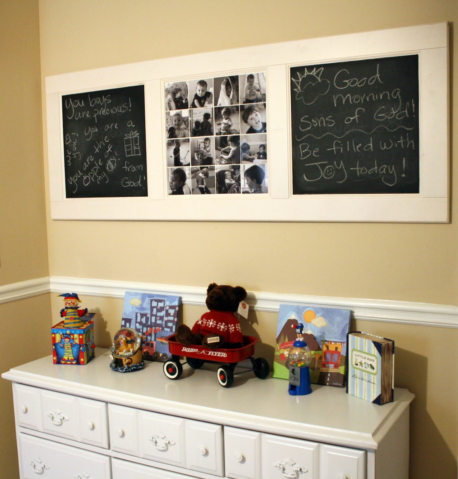 DIY Chalkboard Door Collage