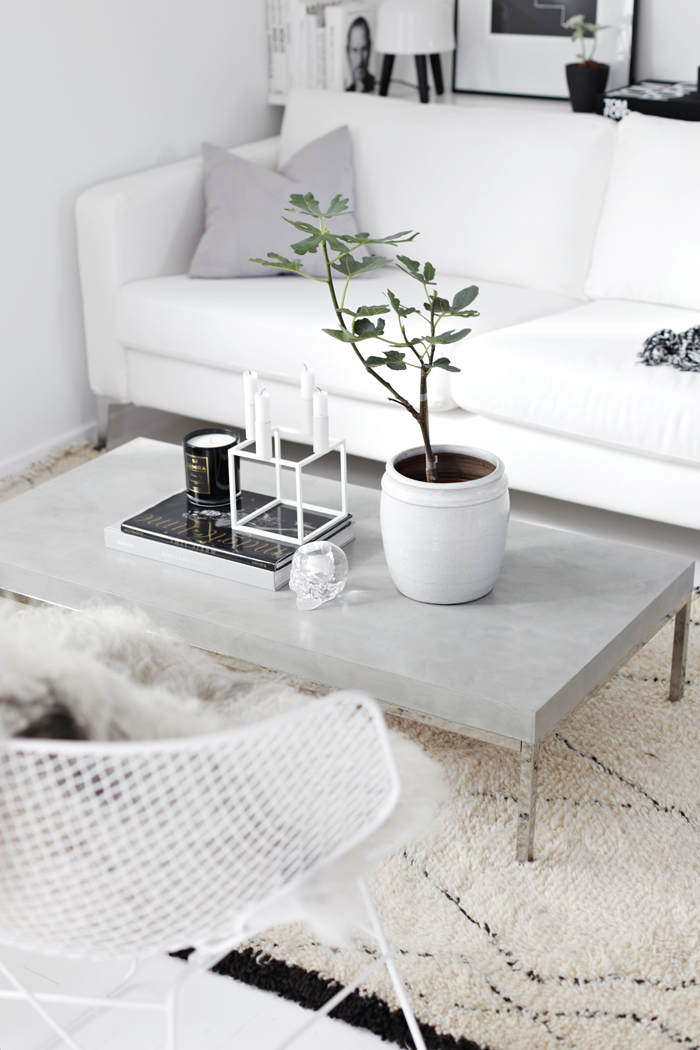 DIY Concrete Coffee Table