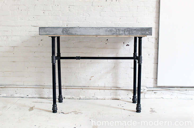 concrete side table. DIY Concrete Side Table