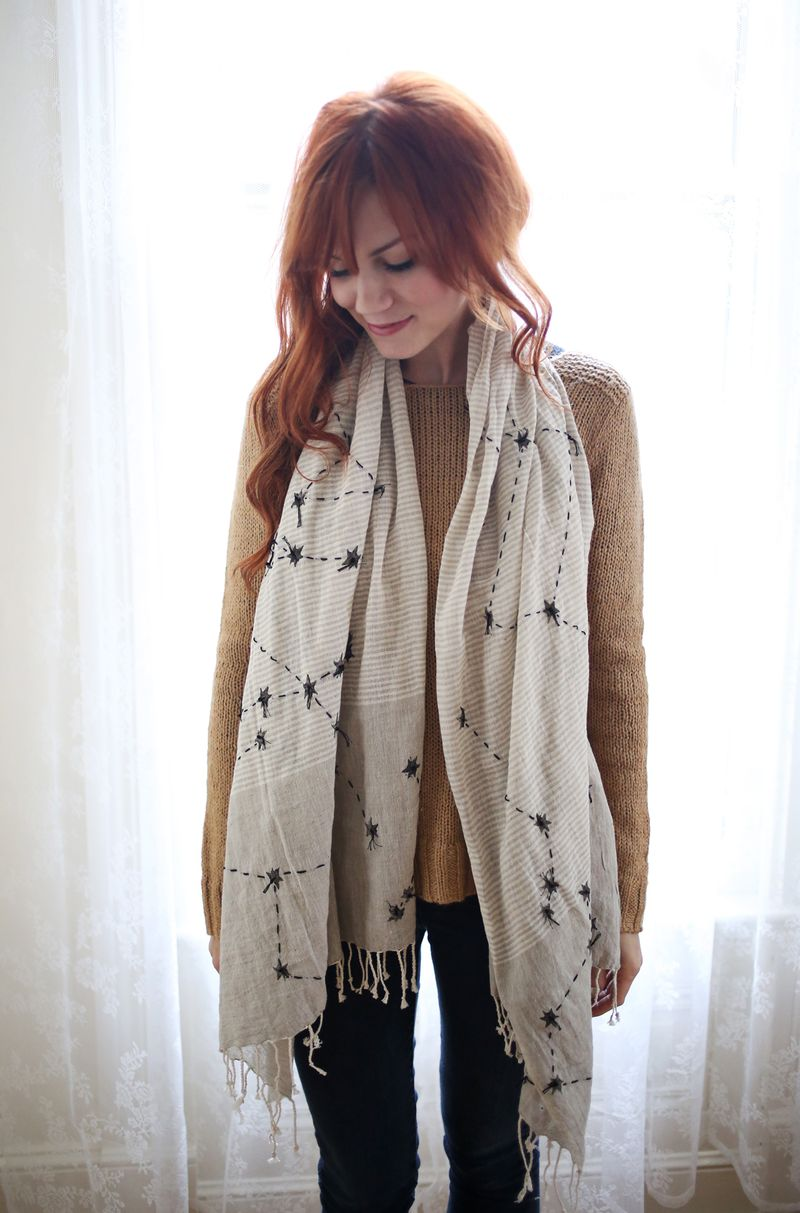 DIY Constellation Scarf