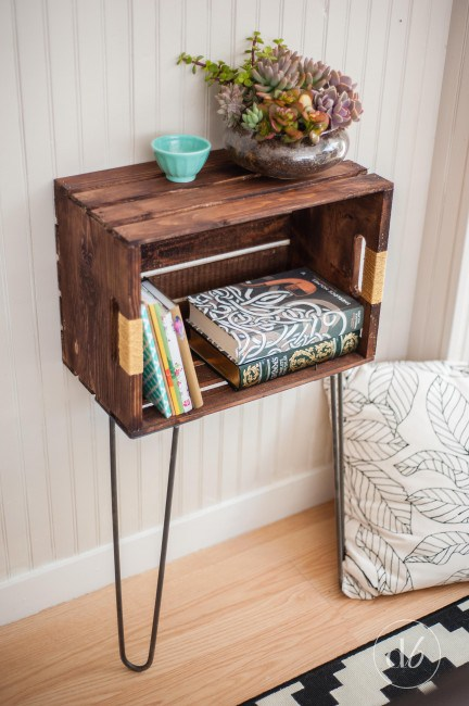 DIY Crate Hipster End Table