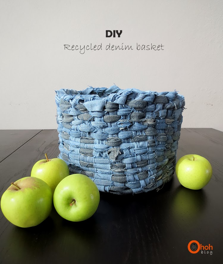 DIY Denim Basket