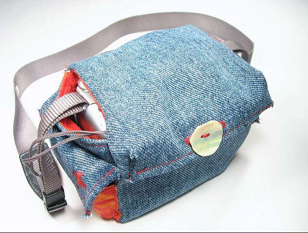 DIY Denim Camera bag