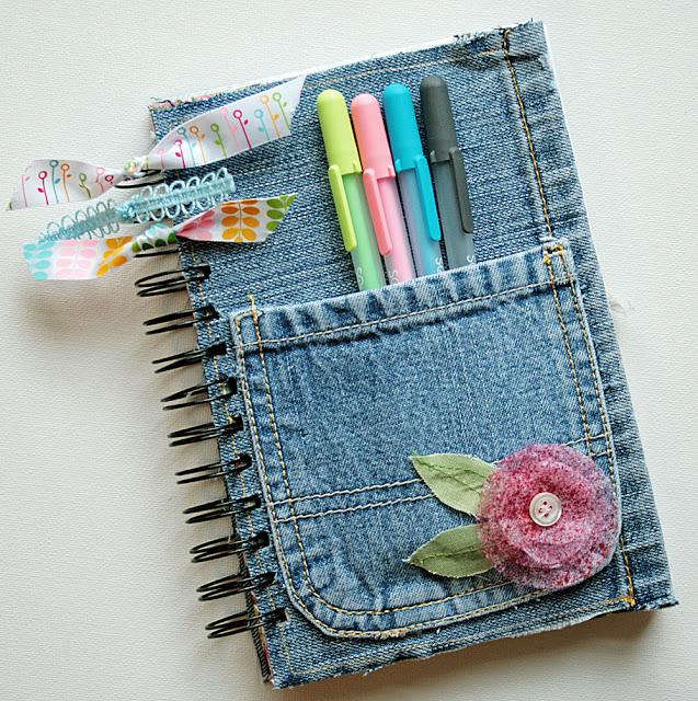 DIY Denim Journal