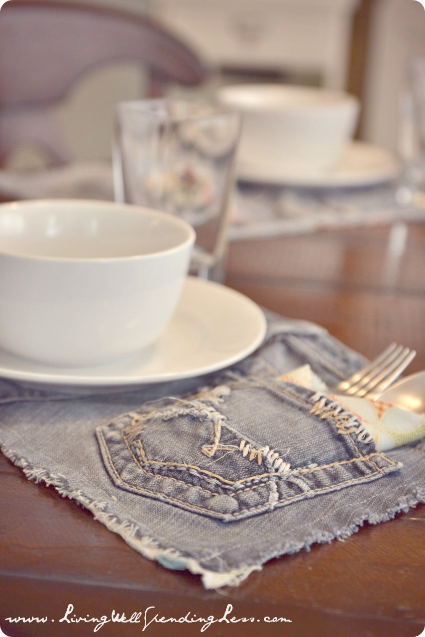 DIY Denim Place Mats
