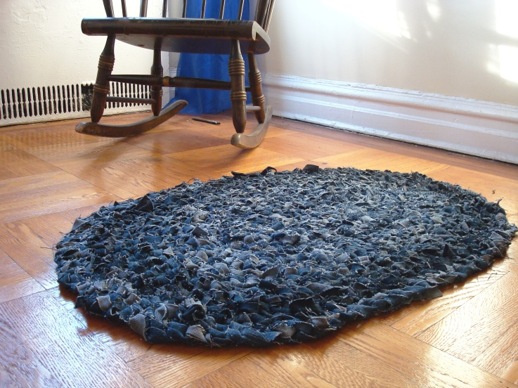DIY Denim Rug