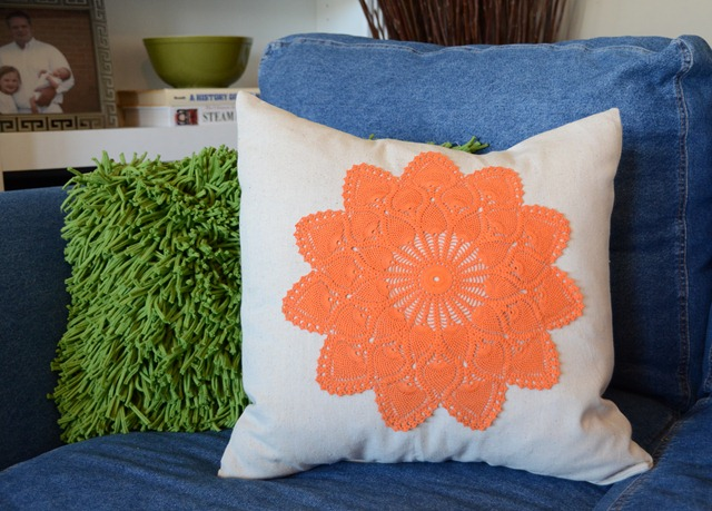 DIY Doily Pillows